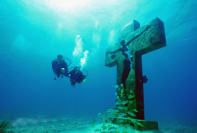 Cancun features a number of diving locations;