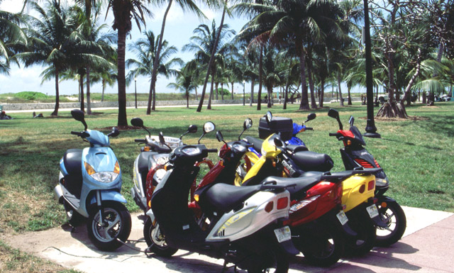 Bike rentals on Ocean Drive in South Beach