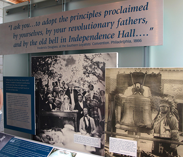 Frederick Douglass exhibit at Liberty Bell Center
