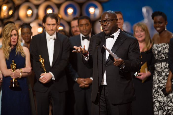 Steve McQueen and his production team for 12 Years A Slave