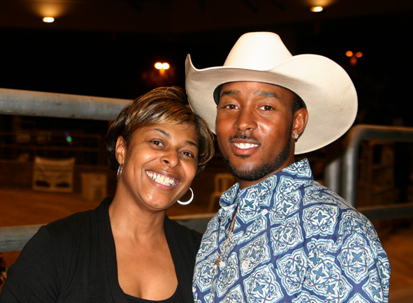 Look who caught a cowboy at Bill Pickett Invitational Rodeo