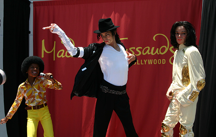 Michael Jackson reveal at Madame Tussauds Hollywood