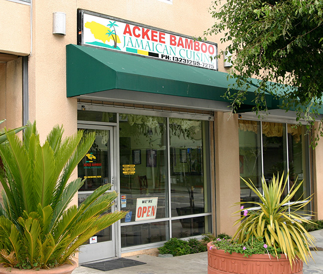 Ackee bamboo soulofamerica leimert park village for Ackee bamboo jamaican cuisine los angeles ca