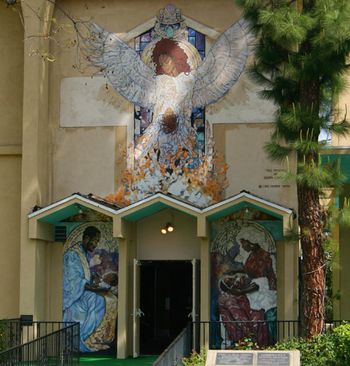 First AME Church entrance, Los Angeles