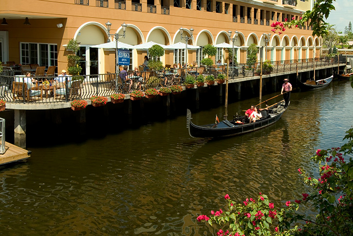 Gondola along the Riverwalk