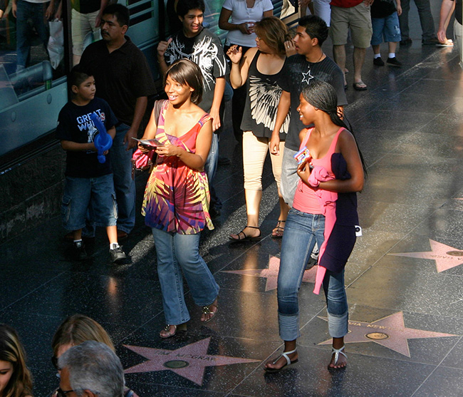 Strolling the Hollywood Walk Of Fame, Los Angeles