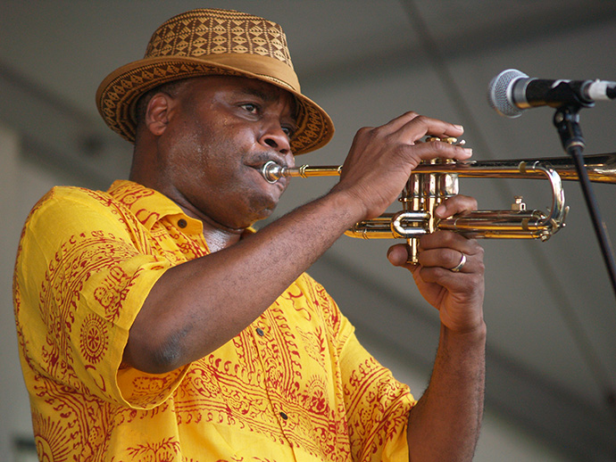 Jazz & Heritage Festival trumpeter, New Orleans