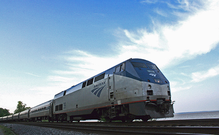 Amtrak Northeast Regional train headed to Newport News