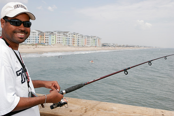 Pier fishing on Virginia Beach