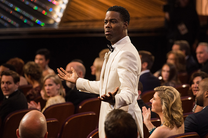 Chris Rock hosting the 88th Academy Awards