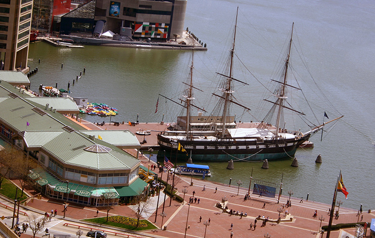 USS Constellation in the Inner Harbor