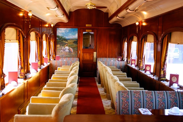 Napa Valley Wine Train gourmet car
