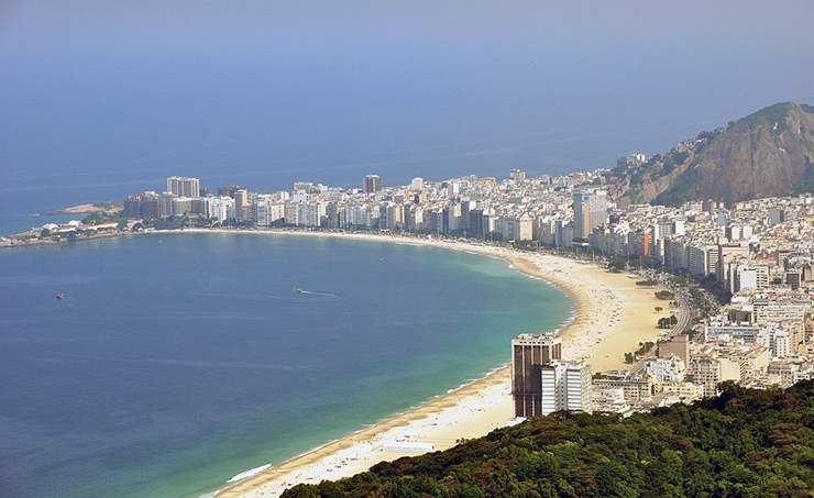 Copacabana Beach aerial view