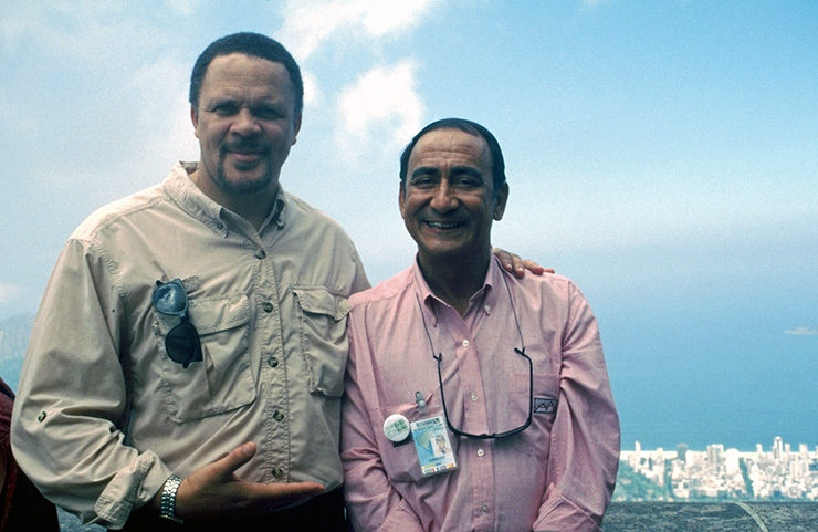 Thomas Dorsey atop Corcovado, For Brothers Visiting Rio