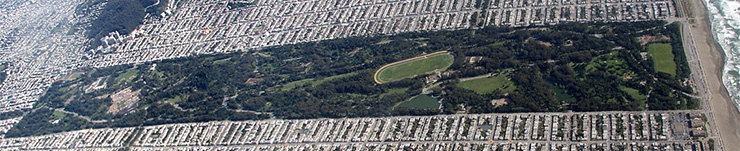 Golden Gate Park from above
