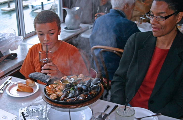 Dining in Fisherman's Wharf, San Francisco