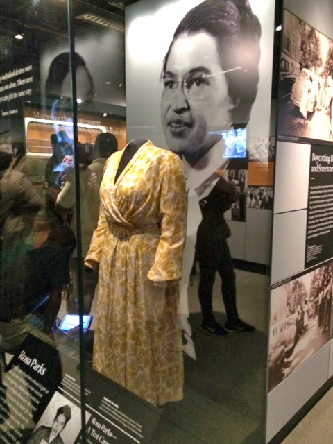 Rosa Parks dress at NMAAHC