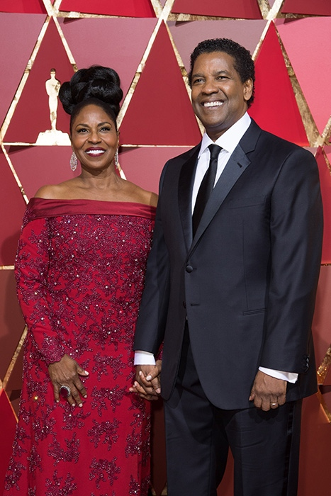 89th Oscars, Pauletta & Denzel Washington