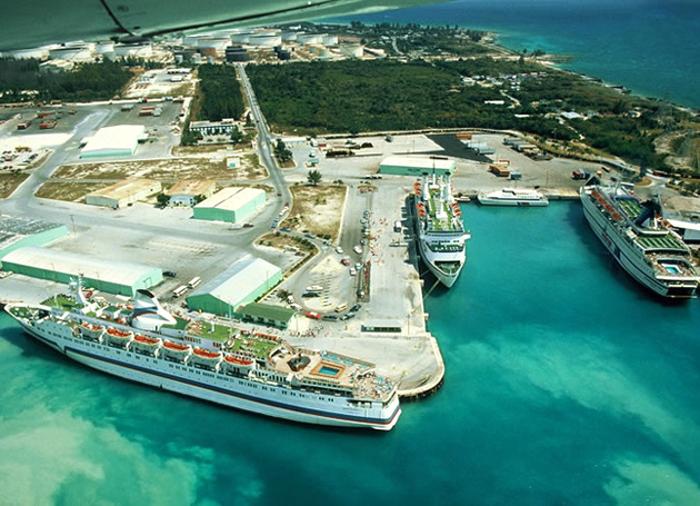 Cruise Ship Port in Grand Bahama Island