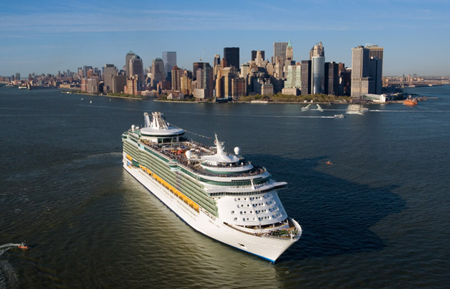 Royal Caribbean Liberty of the Seas in New York harbor