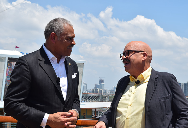Carnival Cruise Lines CEO Arnold Donald and Tom Joyner
