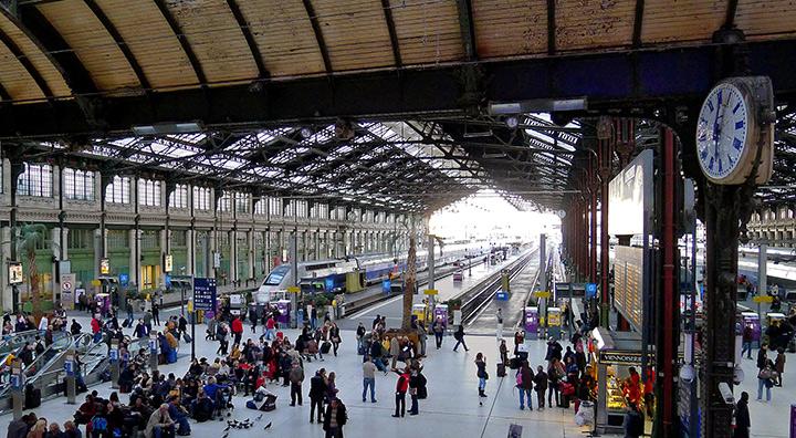 TGV trains in Gare de Lyon, Paris 2011