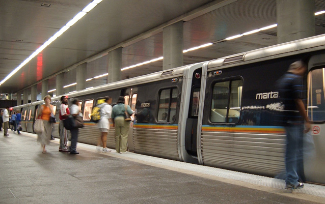 Atlanta MARTA subway at North Avenue