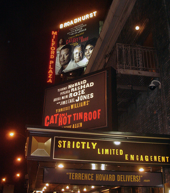 Cat On A Hot Tin Roof, Black Broadway