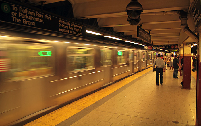 NYC Metro train whizzing by; (c) SoulOfAmerica