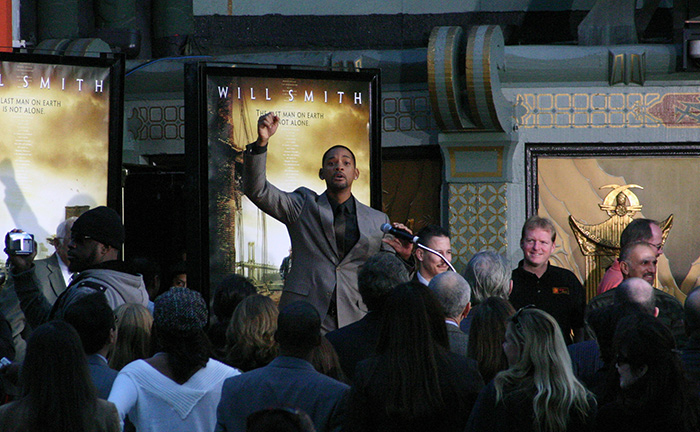 Will Smith's Chinese Theater hand and foot prints ceremony