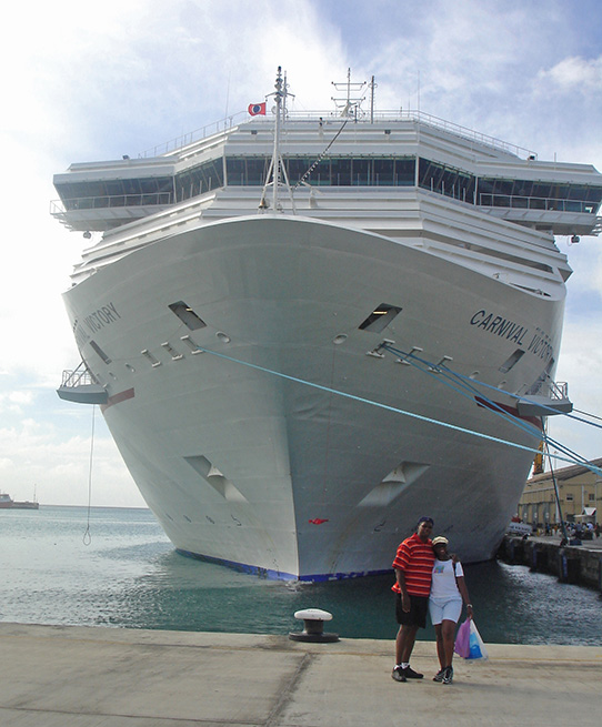 Cruise ship ported in Bridgetown, Barbados Transportation