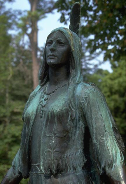 Jamestown Pocahontas Statue, Hampton History