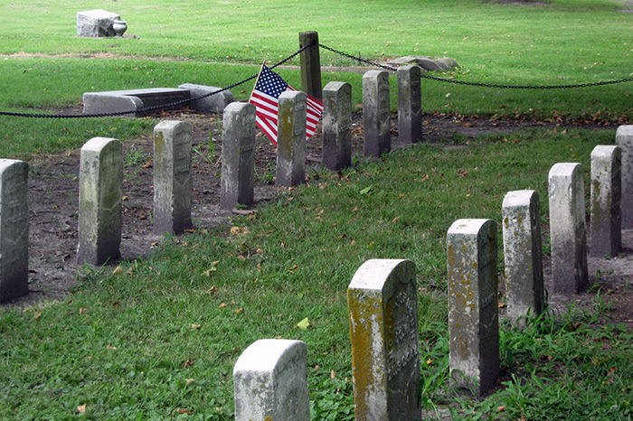 Graves of former slaves in Elmwood Cemetery