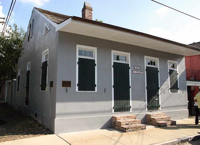 Creole-style house in Treme
