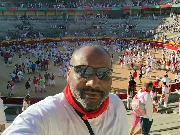 Reggie Smith at Plaza de Toros, Pamplona