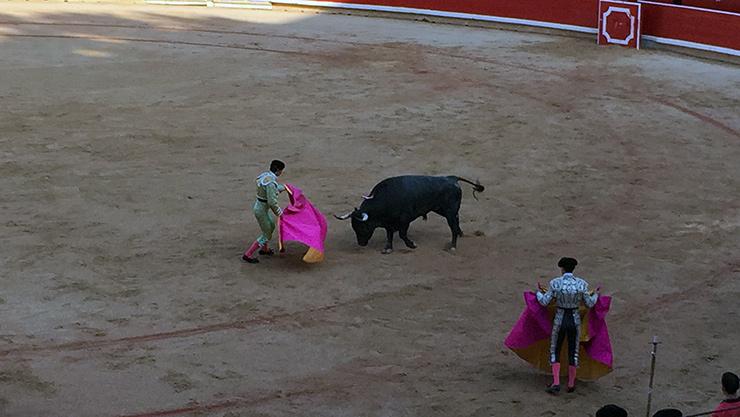 Matador bullfight, San Fermin Festival