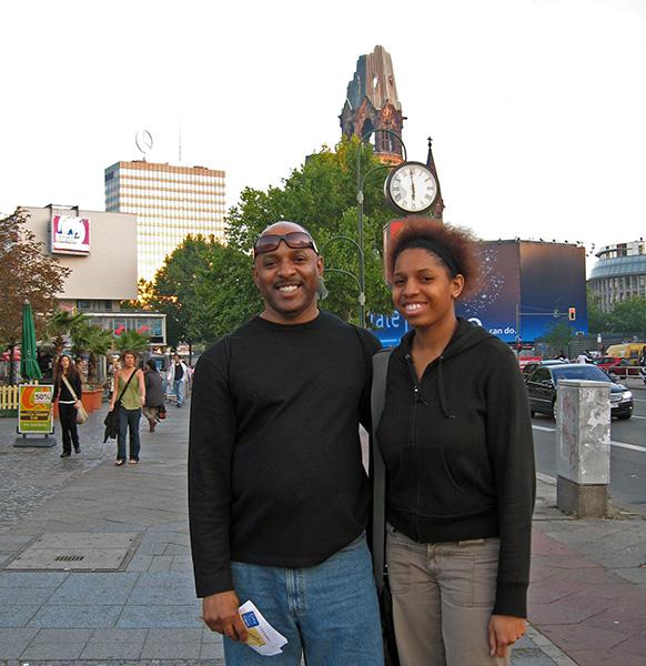 Donny Jones & daughter in Berlin