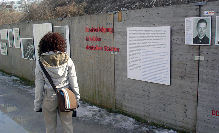 Topography of Terror Wall in Berlin, International
