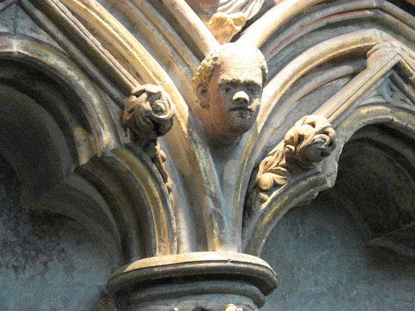 Medieval carving of an African head, Salisbury Cathedral