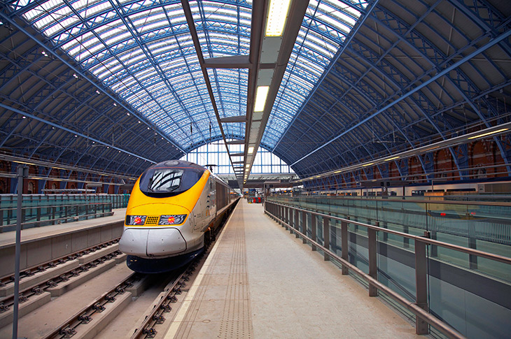 Eurostar at St. Pancras Station, London