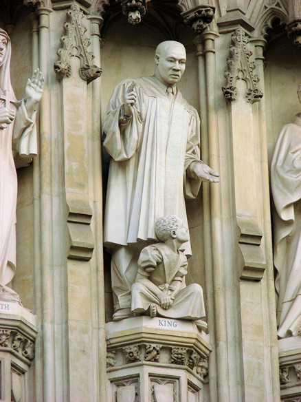 King statue at Westminster Abbey, A London Weekend