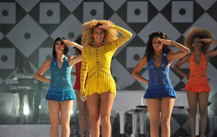 Beyonce performing in Central Park for Good Morning America, New York City