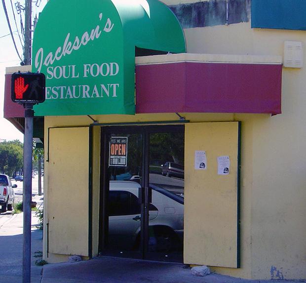 Jacksons Soul Food entrance, Miami