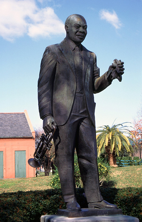 Louis Armstrong Monument, New Orleans - Birthplace of Jazz