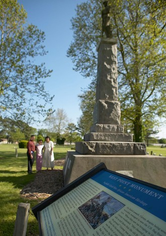 Elmwood's West Point Monument honoring African-American Civil War veterans
