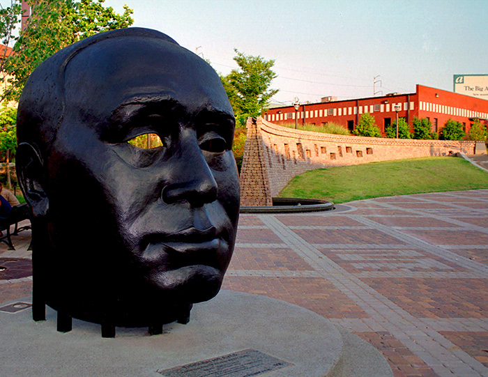 Through His Eyes Monument on Auburn Avenue