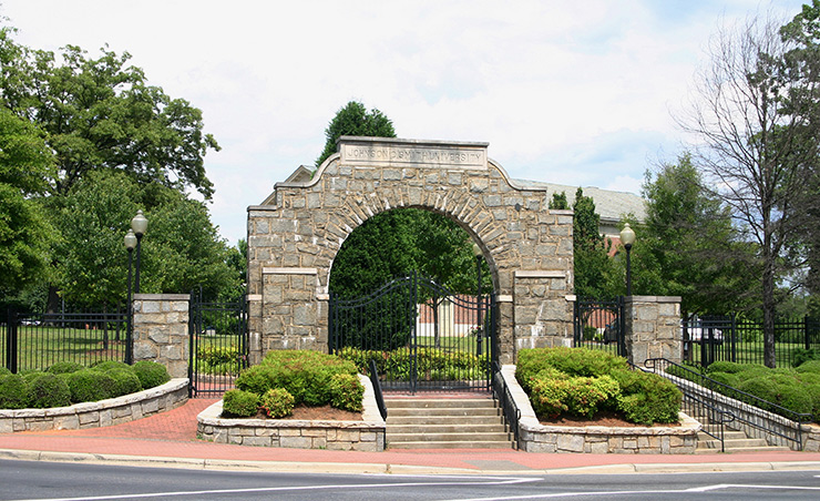 Johnson C Smith campus entrance, Charlotte Cultural Sites
