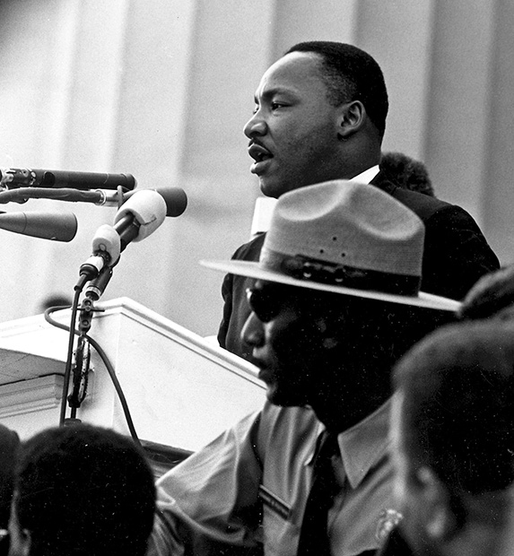 Dr. Martin Luther King giving his I Have A Dream speech