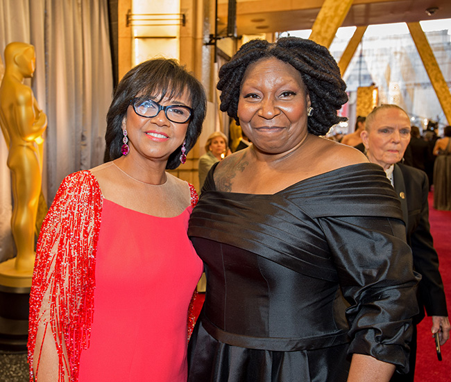 Cheryl Boone Isaacs & Whoopi Goldberg at 88th Academy Awards