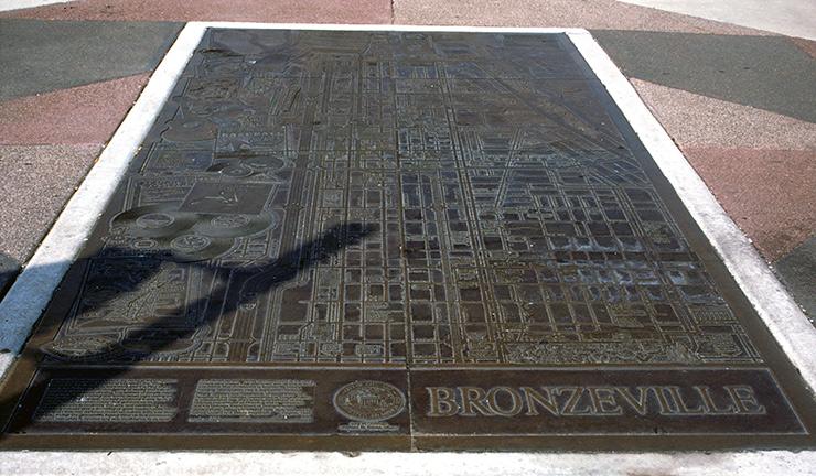 Bronzeville map on MLK Drive